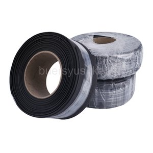 25M Diameter 70mm Flat Width 110mm Black Heat Shrinkable Tube Electrical Sleeving Cable Heat Shrink Tubing Wrap 2:1 Shrink Ratio Wholesale