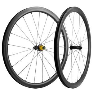 Une paire du cycle du carbone UD Wheelset 40mm mat Avec UD frein Surface Roues Carbone Roues Route Noir R7 Hub céramique de 25 mm Roues