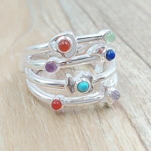 Bijoux Ours 925 anneaux en argent sterling Super Silver Power Ring avec des pierres précieuses Convient bijoux de style européen cadeau C812405640