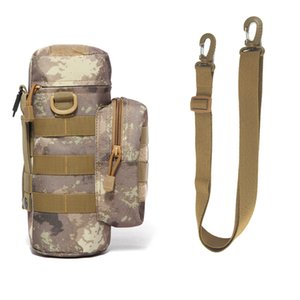 Travel Tool Kettle Set Outdoor Tactical Military Molle System Water Bags Shoulder Bottle Holder Multifunction Bottle Pouch