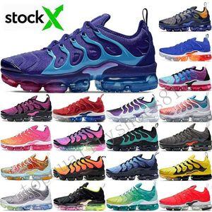 2020 Taille 12 Stock X USA Tn Plus Air Cushion Hommes Chaussures de course Regency Violet Royal Game Triple Designer femmes Chaussures de sport Formateurs 36-46