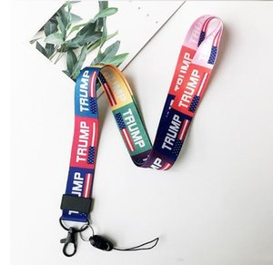 Trump USA Presidential Election Key Lanyard Donald Trump 2020 Banner Mobile Phone Key lanyard American Preside Campaign Flags HH9-3053