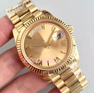 Luxo Classic Series de Men Watch Watches 228238 218238 Amarelo 40 milímetros Dial aço inoxidável de alta qualidade Ásia ETA movimento automático mim
