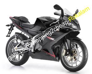 İçin Siyah Motosiklet Seti Aprilia RS125 2006 2007 2008 2009 2010 2011 RS125 06-11 RS 125 RS125 Moto Fairing (Enjeksiyon kalıplama)
