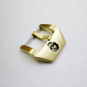 22mm의 24mm에서 26mm 속이 빈 해골 전체 황동 나사 당나라 버클 버클 가죽 고무 스트랩 손목 시계 벨트에 대한