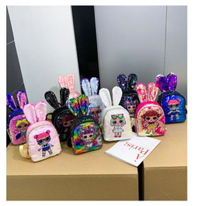 zaino dei bambini del fumetto Unicorn Paillettes adolescenti Anime School Kids Student Travel Bag Bling Zaino Bags For Kid e per adulti