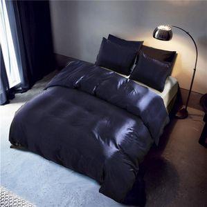Aitificail Silk Pure Color Fashion Bettbezug-Set König / Königin / Twin Größe 3pcs / set Einfache Print Bedding Quilt Blatt 200 * 200