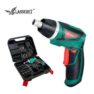 LANNERET 7.2V Li-Ion Cordless Electric Screwdriver Household Rechargeable Twistable Handle T200602