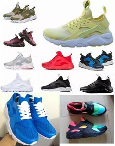 Büyük boy ayakkabı çocuklar için Hava Huaraches Gökkuşağı Koşu Ayakkabıları Erkek Bayan Sneakers Huarache Ultra Nefes Huraches Renkli Spor Atletik
