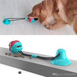 Pet Dog And Cat Suction Cup Ball Toy TPR Doggy Cats Leaky Food Balls Pets Puggy Chew Toys 40cm Hot Selling 20yc E1