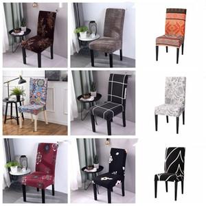 Cubierta de la silla del estiramiento cubiertas impresas silla del asiento del asiento elástico Fundas Caso cocina restaurante de banquetes del hotel Decoración LXL1007-1