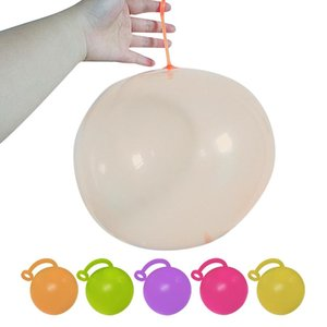 Outdoor Beach Ball Filled With Water Balloon Patted Ball Small Bubble Ball TPR Inflatable Toy Amazing Tear Resistant With Pump