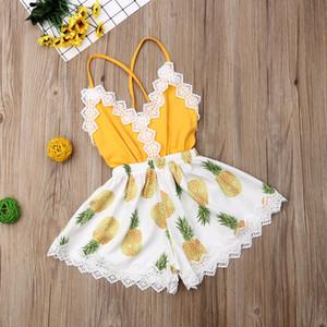 신생아 아기 소녀 여름 의류 레이스 꽃 장난 꾸러기 바디 수트 점프 수트 의상