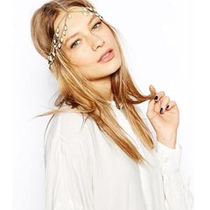 Fashion high-end resin gemstone design multi-tassel set with diamond hair chain head chain headgear European and American