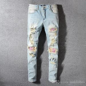 2019 Mens Designer-Hosen der neuen Art-beiläufige dünne Jogginghose Herren Designer Jeans mit tiefem Schritt Trainingshose Herren Jeans Designer-Jeans