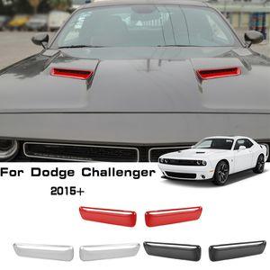 Di aspirazione del motore di copertura del flusso d'aria Hood Vent ABS decorazioni della copertura per il Dodge Challenger 2015 SU Factory Outlet Accessori auto Interni