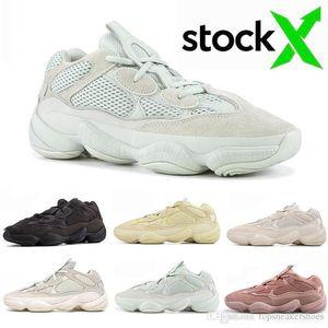 2020 Novo 500 Osso Branco Pedra Running Shoes Blush 500s macias Visão Sal Super lua amarela Utility Preto Kanye West Mens Formadores Sneakers