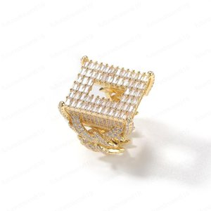Ice Out Bling CZ Rings For Men Fashion Bling Hiphop Jewelry Pop Hip Hop Zircon Ring CouplesGift