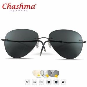 2019 novos óculos de sol de transição de verão titanium photochromic óculos de armação dos homens e mulheres óculos de camaleão