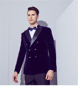 Classic Peak Lapel Wedding Tuxedos Slim Fit Suits For Men Groomsmen Suit Two Pieces Prom Formal Suits (Jacket+Pants+Tie) W119