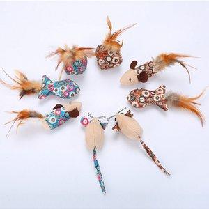 4Pcs Pet Katzen Mäuse Tier-Spielzeug Solving Langeweile Naturgetreue Maus Spielzeug mit Catnip