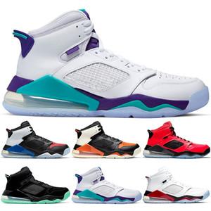 Nike Air Jordan Mars 270 Erkekler Basketbol Ayakkabı Üzüm Bred İlk 3 Ateş Kırmızı 23 Yeni Tasarımcı Trainer Sport Sneaker Ücretsiz Kargo Boyut 40-46 Arkalık Kızılötesi