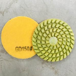Concrete Floor Polishing Pads 4 Inch Dry Resin Pads D100mm Dry Floor Polishing Disc for Concrete and Terrazzo Floor 12PCS
