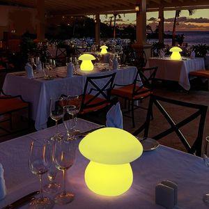 LED Large mushroom table lamp luminous lamp bar counter personalized charge desk lamp heterochrosis bling remote control