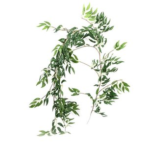 Fashion Simulation Willow Leaves Party 1.7M Creative Photo Props Artificial Willow Vine Restaurant Festive Gray Green