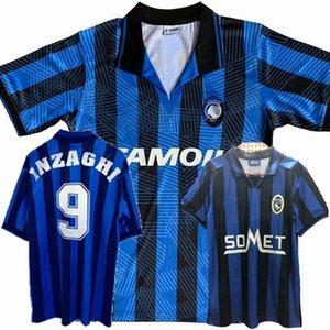 Retro 91 92 96 97 Atalanta BC soccer jerseys INZAGHI D.MORFEO FORTUNATO BONACINA 1991 1992 1996 1997 Retro football Sports shirt
