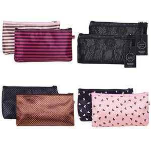 2PCS set Fashion light mini storage bags makeup bag cosmetic bags case pouch toiletry bag