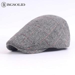 Quel matériel casquette hommes béret en gros automne et hiver dans le vieux chapeau chapeaux vintage