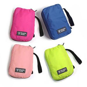 Travel Mate Bag Bolsas de cosméticos Bolsa de almacenamiento Monedero Travel Cosmetic Bag Organizador Bolso Nylon Bolsas de maquillaje con doble cremallera