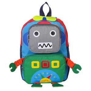 İlkokulu için Erkekler Kızlar Satchel Sırt Çantası Çocuklar Dayanıklı okul çantası için Çocuk Sırt Çantası Sevimli Robot Okul Çantaları