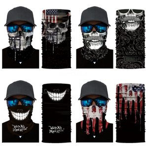 3D Joker Seamless Magic Neck Gaiter Face Shield Cycling Fishing Bike Ski Camping Bandana Halloween Headband Skull Scarf Men Women Mask#448