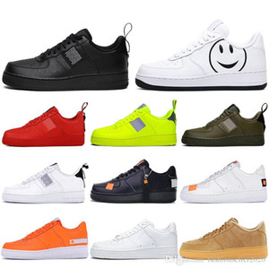 Nike air force 1 af1 Con calcetines 2019 Dunk Utility 1 Hombres Lady Zapatillas de running Skateboard Negro Blanco Just Orange High Low Cut Zapatillas de deporte Plataforma Design