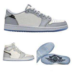 oblicua X AJ 1 altos zapatos DIORJordán NakeskinJordánRetro Homme X Kaws Por Kim Jones zapatos de baloncesto