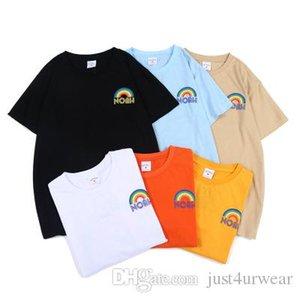 Hombre del diseñador del arco iris camisetas de manga corta Ins Moda Imprimir Tee juvenil estilo suelto caliente tendencia camiseta