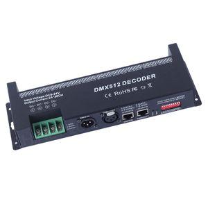 30channels DMX 512 RGB LED Strip Controller Decoder Dimmer Driver DC9V-24V