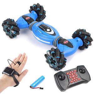 LBLA дистанционного управления с помощью жестов Stunt Car Индукционная Крутящий Off-Road Vehicle Light Music Drift Танцы Side вождения RC игрушки для детей MX200414