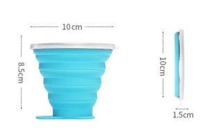 Silikon-Wasserflasche 270ml im Freien Sport Reise Kreative Cups Coke Teleskop Tasse Folding Wasserflaschen 8 Farbe 120pcs