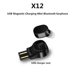 Auricolare Bluetooth senza fili portatile X12 Cuffia Bluetooth per auto USB Ricarica magnetica Bluetooth Mini Auricolare Bluetooth S530 Sport (Vendita al dettaglio)