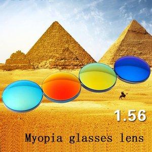1.56 Polarized colorful spherical myopia sunglasses prescription lenses UV400 goggles optical glass lenses for sunglasses