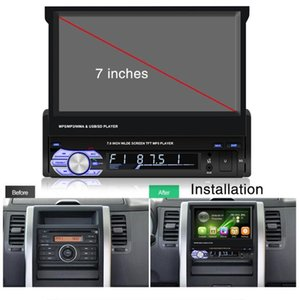 New 7 Inch Mp5 Player Touch Screen Car Retractable Mp5 Player 9601mp5 Car Mp4 Radio Reversing GPS