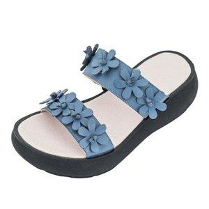YourSeason женщин натуральная кожа лето 2020 Тапочки Новые Вне Wear клинья Обувь ручной работы Сжатый Женский Слайды