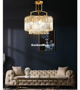 Moderne Minimalist Kupfer Gold hängende Lampe für Wohnzimmer Kristall-Kronleuchter Esszimmer Deckenleuchter Lichter leuchten Copper Lustres
