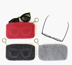 100pcs wholesale organizer wallet sunglasses case pouch key chain holder felt material makeup bag storage bag phone pouch cheap price promot