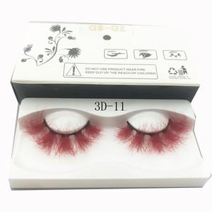 3D visone ciglia Serie Blog 5D Mink Lashes Handmade Color estensione falsa dei cigli trucco bioccoli Lanuginoso 22 millimetri Lashes Halloween Party