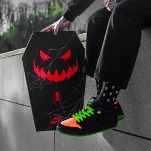 Hot 2020 Halloween Running Shoes Men SB Dunk Low Night Of Mischief Black Total Orange Court Purple Volt Sports Skateboard Sneakers 36-45