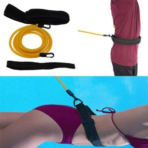 Adjustable Swim Bungee Training Resistance Belt Swimming Exerciser Tether Waist Belt with Storage Bag
